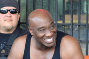 "Michael Clarke Duncan films scenes for ""The Locator"" in South Beach. The show is a spinoff of the hit Fox show ""Bones""."