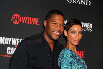 Michael Strahan Nicole Murphy Stars at the MGM Grand for the Floyd Mayweather Jr. Fight