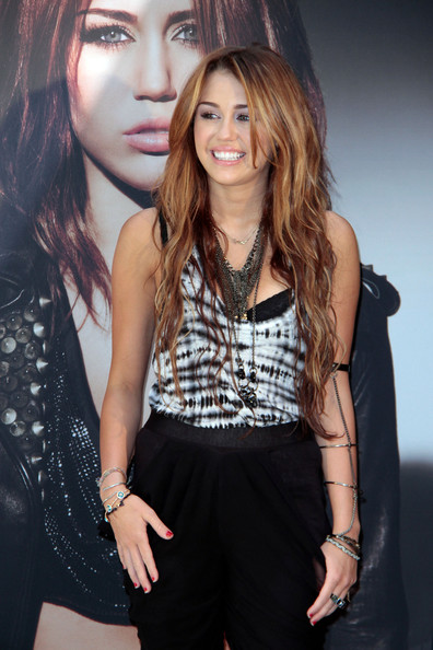 "Miley Cyrus Disney darling Miley Cyrus presents her new album ""Can't Be Tamed"" in the Spanish capital, Madrid."