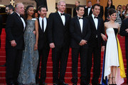 James Caan, Zoe Saldana, Billy Crudup, Noah Emmerich, Guillaume Canet, Clive Owen and Marion Cotillard attend the Premiere of 'Blood Ties' during the 66th Annual Cannes Film Festival at the Palais des Festivals in Cannes.