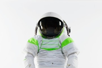 NASA TO INFINITY AND BEYOND! NASA introduces it's first new space suit in 20 years, the Z-1, complete with bright green and white trim and a large hemispherical dome
