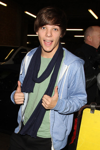 "Louis Tomlinson of boyband ""One Direction"" heads to rehearsals ahead of Saturday's next live installment of ""The X Factor""."