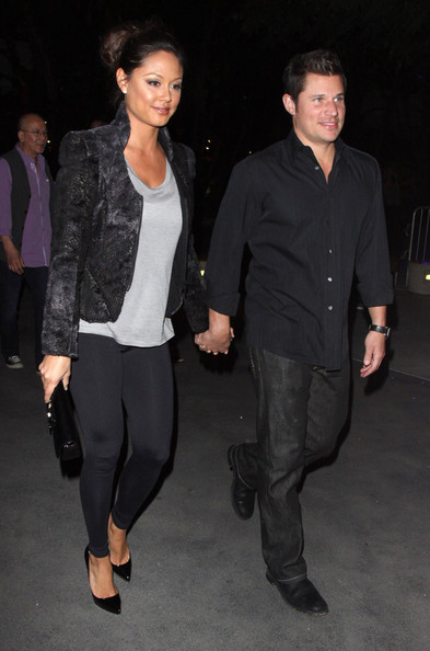 Nick Lachey and Vanessa Minnillo See the Michael Jackson Cirque du Soleil ...