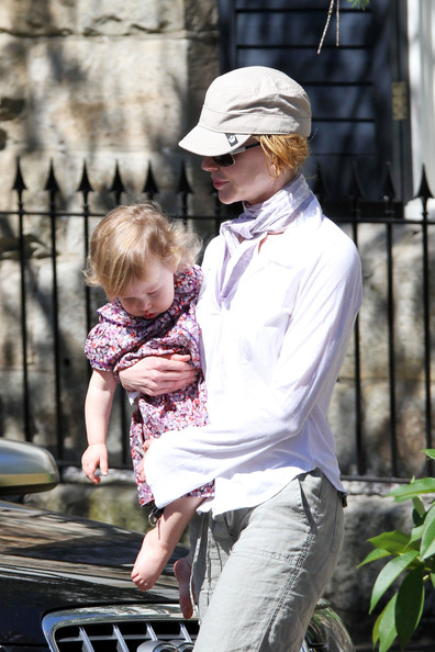 Nicole Kidman, daughter Sunday Rose, and Nicole's father Anthony,