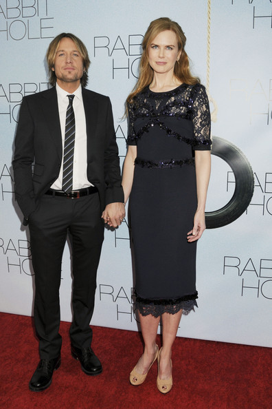 "- Thursday December 2 2010. Keith Urban and his wife Nicole Kidman on the red carpet for the New York premiere of her latest film, ""Rabbit Hole"" at the Paris Theatre."