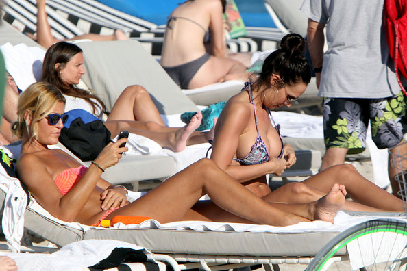 Nicole Minetti on the Beach in Miami