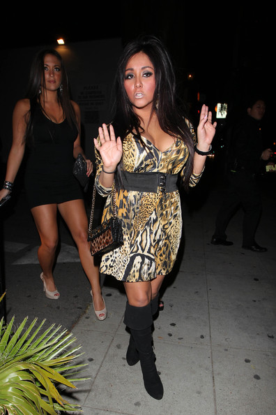 "Nicole Polizzi Nicole Polizzi, better known as Snooki of ""Jersey Shore"", heads to Voyeur lounge for a night out with her gal pals."