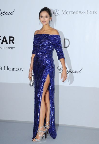 Nina Dobrev - Celebs at the amfAR Gala