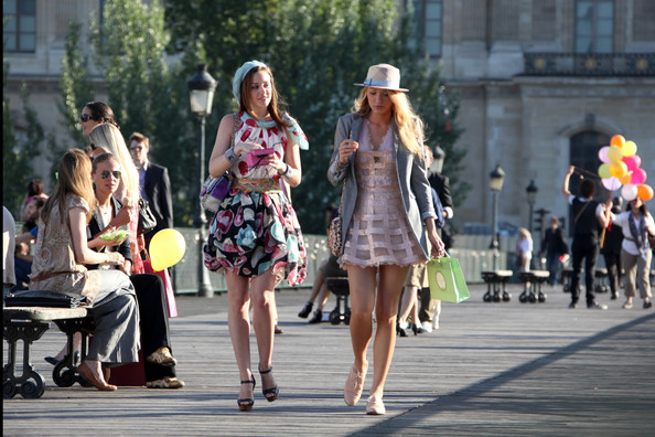 blake lively style in gossip girl. Blake Lively and Leighton