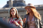 Blake Lively and Leighton Meester have fun filming  the new season of