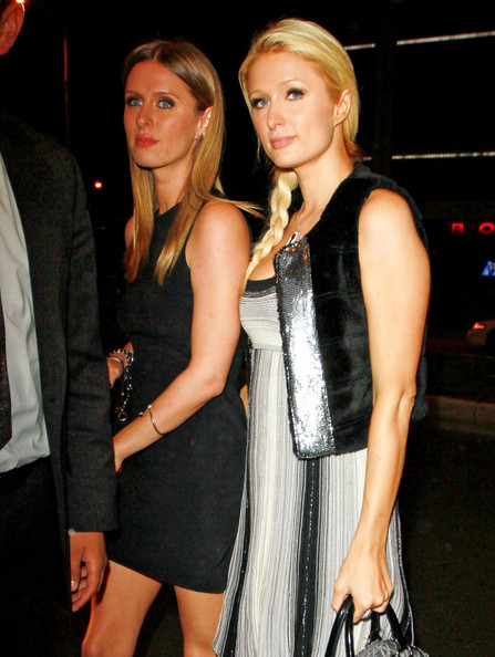 "Paris Hilton Hilton sisters, Paris and Nicky attend a promotional event for ""Blast by Colt 45"", a premium malt beverage, held at Trousdale lounge in West Hollywood."