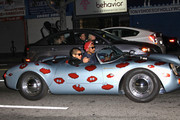 Pharrell Williams and Chad Hugo of The Neptunes drive down Hollywood Blvd in a porsche spyder, whilst filming a music video.
