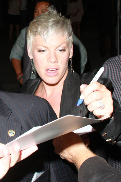 Pink Signs Autographs At The Art Of Elysium Event In Hollywood