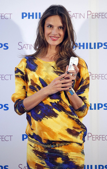 Pregnant model Alessandra Ambrosio presents the new Phillips Satin Perfect ...