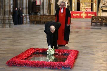 Prince Andrew Ceremony Held at the Grave of the Unknown Warrior