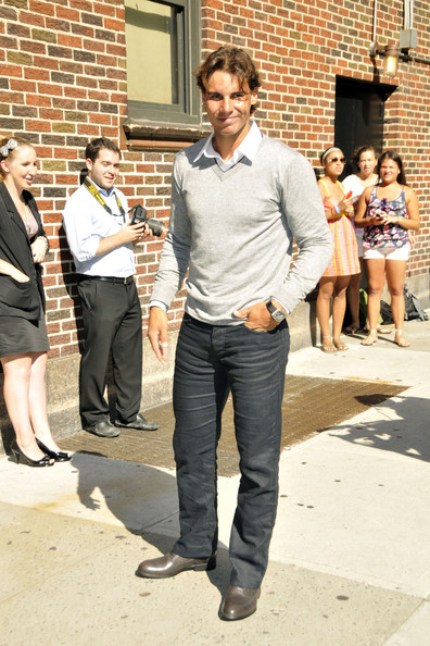 Rafael Nadal Rafael Nadal Photos Rafael Nadal Arrives At The David Letterman Show Zimbio