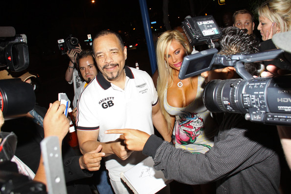 ice tea wife coco pictures. Ice T and Coco at Voyeur in