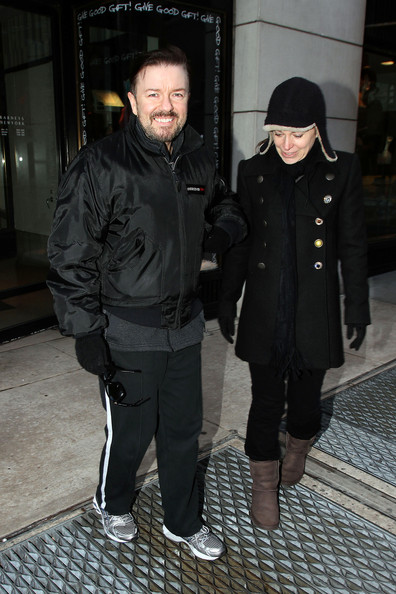 who is ricky gervais girlfriend. Ricky Gervais and his