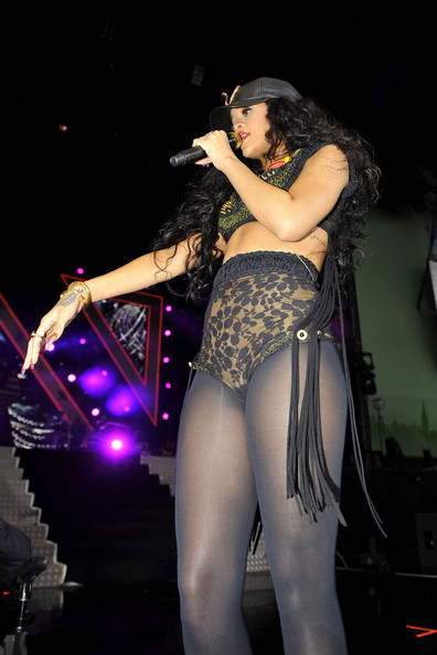 Rihanna takes the stage at the Barclaycard Wireless festival in Hyde Park, London