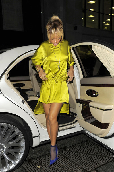 Rihanna Out Late at the Mahiki Club in Mayfair