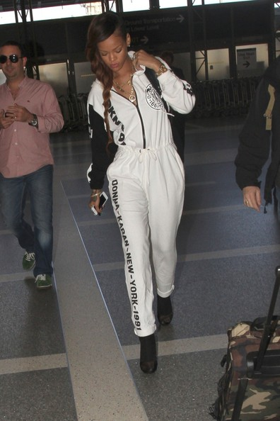 MARCH 03, 2013. Rihanna is seen at LAX Airport in Los Angeles.