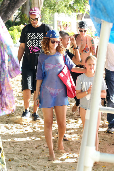 Rihanna In Barbados With Her Brother Zimbio