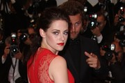 "Kristen Stewart at the ""Cosmopolis"" red carpet premiere during the 65th Cannes Film Festival 2012, held at the Palais des Festivals on the famous Croisette Avenue in Cannes."