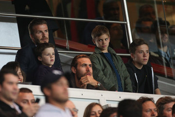 Romeo Beckham David Beckham Takes His Boys to a Game