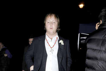 James Louis McCartney Ronnie Wood leaves the wedding reception of Paul McCartney and Nancy Shevell which was held at their house in St Johns Wood, London