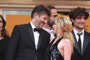 """Christophe Honore and Ludivine Sagnier on the red carpet for the screening of """"Les Biens-Aimes"""" at the closing ceremony of 64th Cannes Film Festival."""