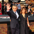 Sunetra Sastry Rowan Atkinson at the Premiere of