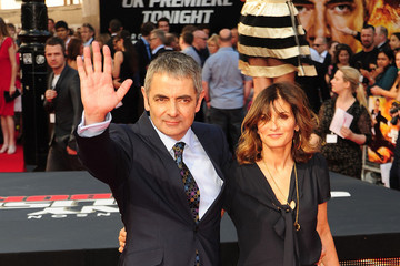 "Sunetra Sastry Rowan Atkinson at the Premiere of ""Johnny English Reborn"" in London"