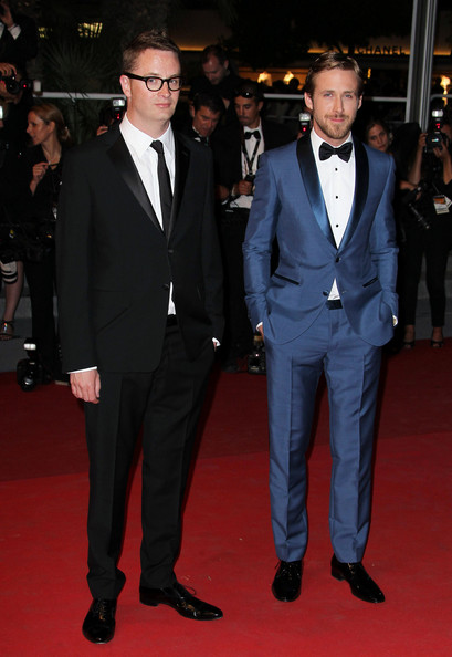 "Ryan Gosling and director Nicolas Winding Refn are seen on the red carpet for a screening of their new film ""Drive"" at the Cannes Film Festival."