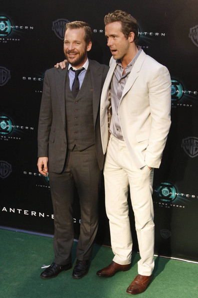 "Ryan Reynolds and Peter Sarsgaard attend the Spanish premiere of ""The Green Lantern' in Madrid."