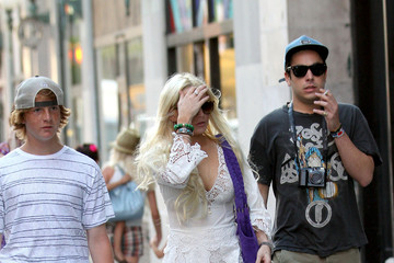 Cody Lohan Lindsay Lohan Out in NYC 2