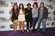 """Sabrina Bryan, Lacey Schwimmer, Kyle Massey, Carrot Top and Joey Fatone at the """"Dancing With The Stars: Live in Las Vegas"""" opening night at the Tropicana Theater in the New Tropicana Las Vegas in Las Vegas."""