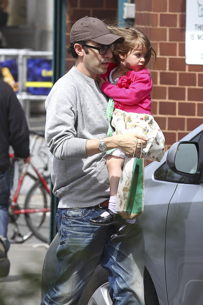 Photo of Sacha Baron Cohen & his  Daughter  Elula Lottie Miriam Cohen