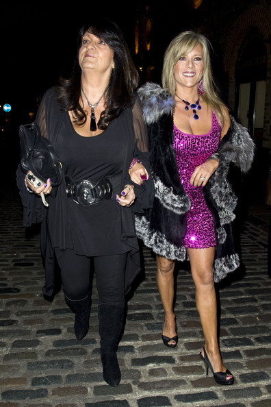 Samantha Fox with cool, Girlfriend  Myra Stratton
