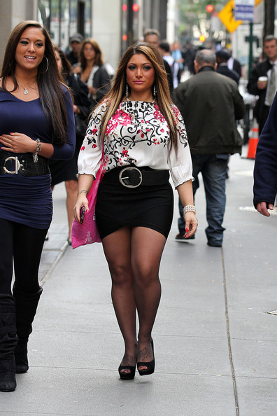 Sammi And Deena Of Quot Jersey Shore Quot In Nyc Zimbio