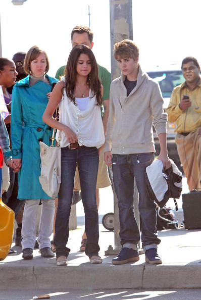 Selena Gomez Justin Bieber and Selena Gomez enjoy an afternoon stroll along the Santa Monica Pier. .