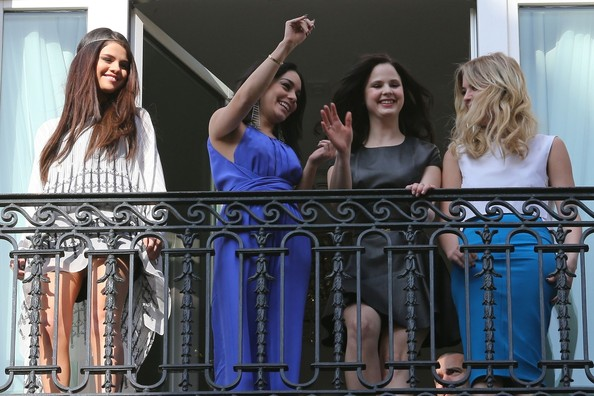 Selena Gomez, Vanessa Hudgens, Rachel Korine and Ashley Benson at the Bristol Hotel