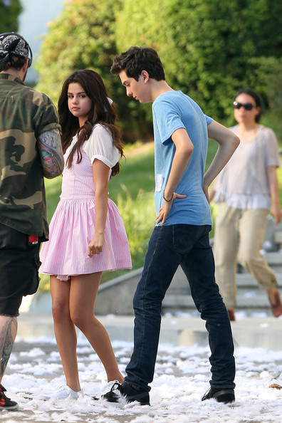 Selena+Gomez in Selena Gomez Films 'Parental Guidance' in L.A.
