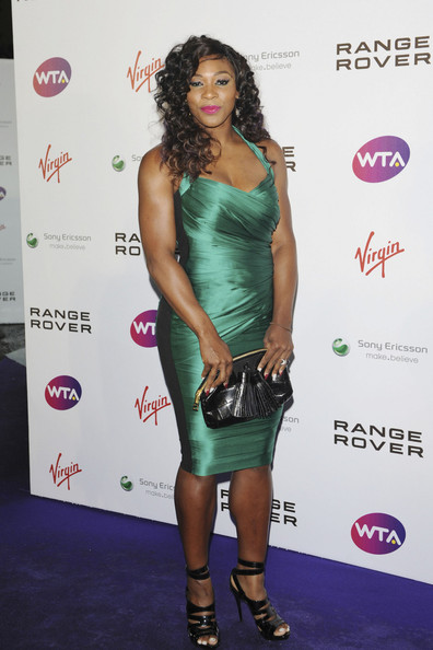 Serena Williams attending the WTA pre-Wimbledon party in association with Range Rover at the Kensington roof garden in London.