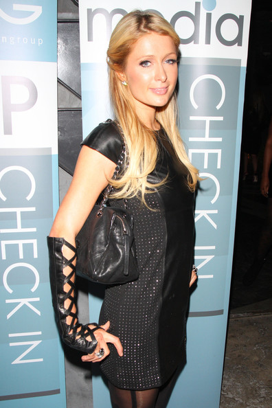 Sexy socialite Paris Hilton appears in a dominatrix style outfit as she arrives for the 'Sunset Strip' premiere afterparty held at Lure nightclub in Los Angeles