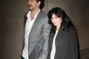 """Tuesday April, 3 2012.  Original """"90210"""" actress Shannen Doherty arrives at the """"Today Show"""" in New York City with her husband photographer Kurt Iswarienko."""