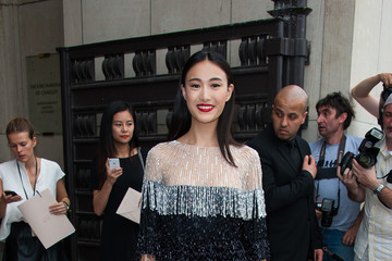 Shu Pei Qin PFW: Arrivals at the Armani Show