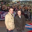 Anthony McPartlin And Declan Donnelly Simon Cowell arriving at the 'Britian's Got Talent' auditions in Manchester, UK