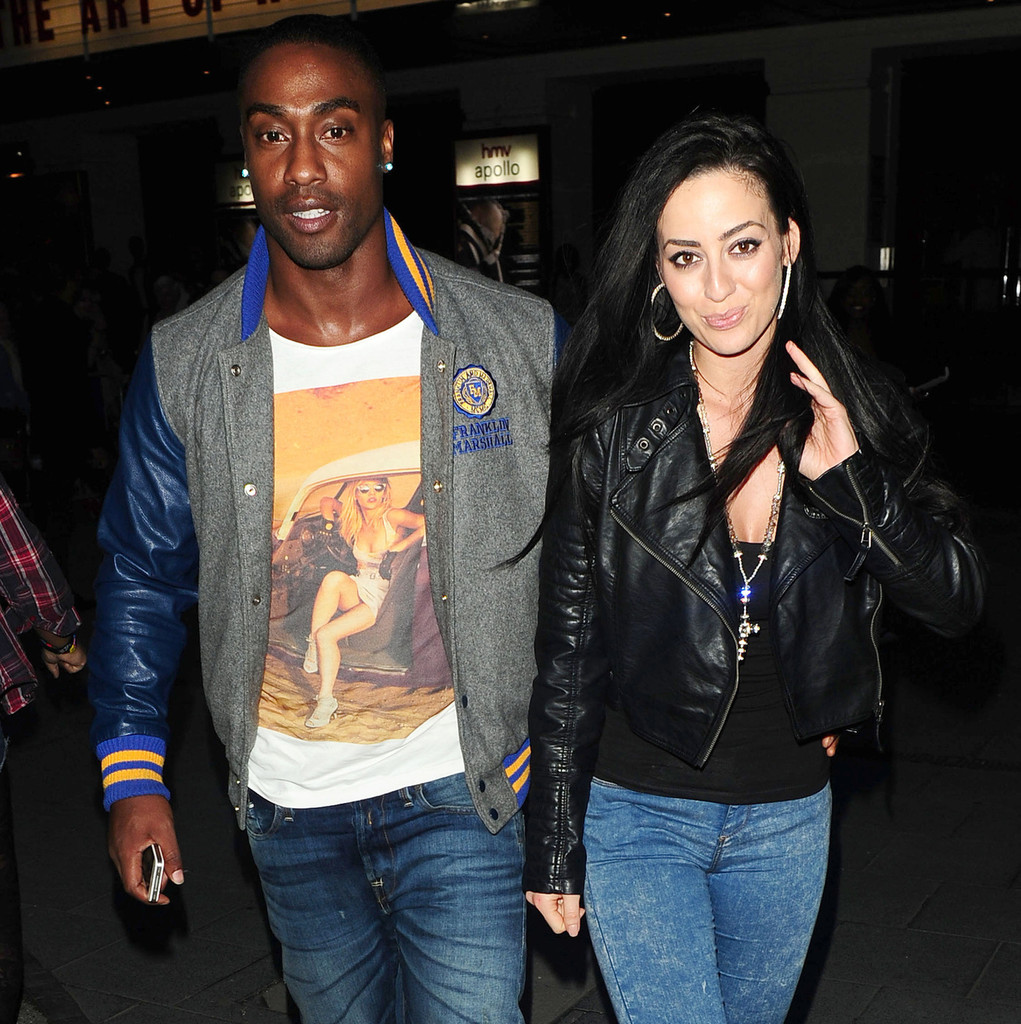 Simon Webbe And Girlfriend Maria Kouka Leave The Uk Premiere Of Something From Nothing The Art