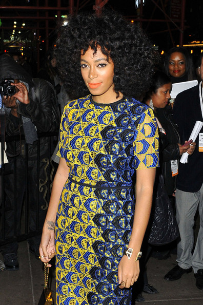 Solange Knowles - Singer Solange Knowles makes her way into the 'Glamour Women of the Year Awards' at Carnegie Hall in New York City