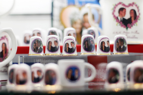 Souvenir products for the royal wedding of Britain's Prince William and Kate Middleton is pictured in a shop in central London, on February 18, 2011. Prince William, the second in line to the throne, and Kate Middleton announced their engagement in November after a seven-year romance that began at university. The wedding, at Westminster Abbey on April 29 in London, is set to be Britain's biggest royal wedding since William's parents, Prince Charles and Lady Diana Spencer, married in 1981. April 29 has been made a public holiday throughout the kingdom.